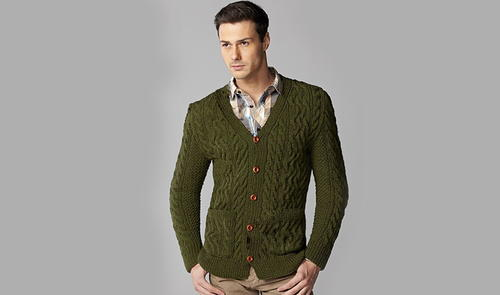 Men's Irish Knit Cardigan