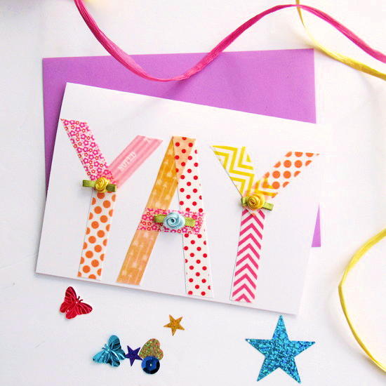 Washi Tape YAY Greeting Card