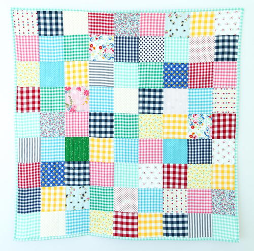 Gorgeous Gingham Baby Quilt Pattern