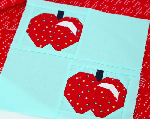 Crisp Apple Quilt Block Pattern