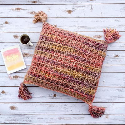 Waffle Stitch Throw Pillow
