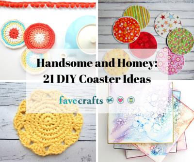 Handsome And Homey 21 Diy Coaster Ideas Favecrafts Com