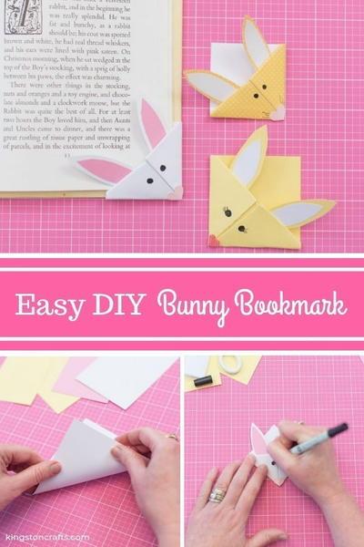 Easter Ideas For Kids Diy Bunny Bookmark Diyideacenter Com