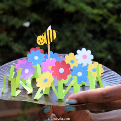 Paper Plate Garden and Moving Bee