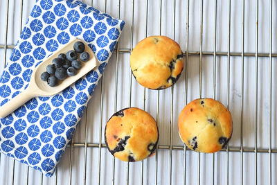 Healthy Low FODMAP Blueberry Muffins