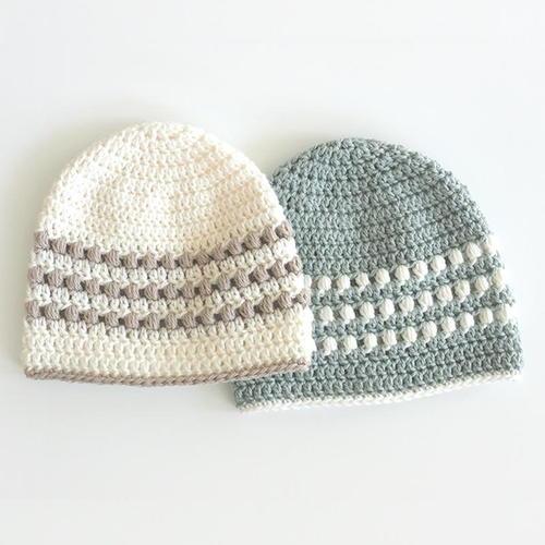 Puff Stitch Crochet Baby Hat Pattern Allfreecrochetcom