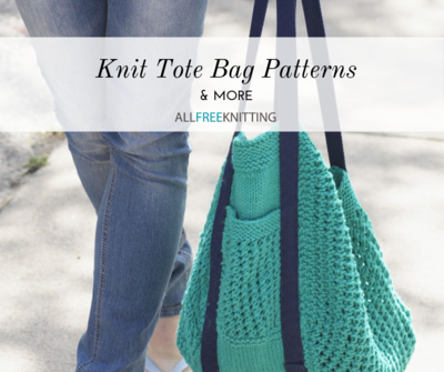 Knit Tote Bag Patterns and More