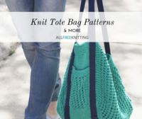 26 Knit Tote Bag Patterns and More