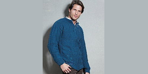 Free Classic Men's Cardigan Knitting Pattern