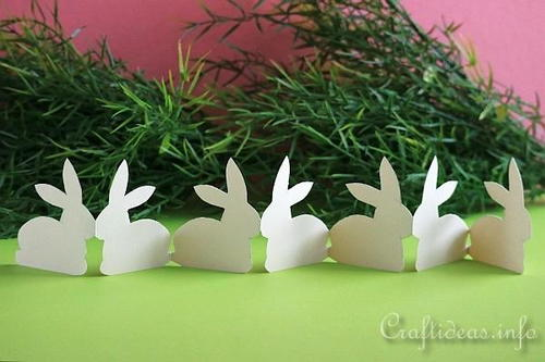 Folded Paper Easter Bunny Garland