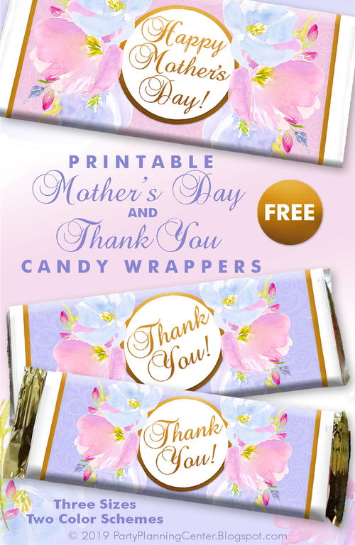 Mother's Day and Thank You Candy Bar Wrappers