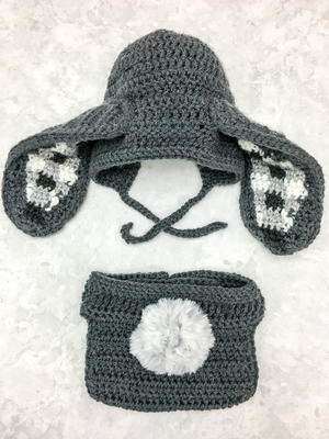 Gingham Ear Bunny Bonnet and Diaper Cover
