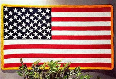 How to Crochet an American Flag Blanket