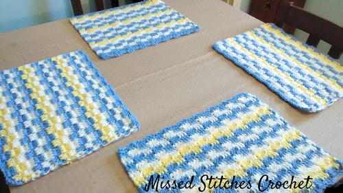 Heavenly Blue Crochet Placemat
