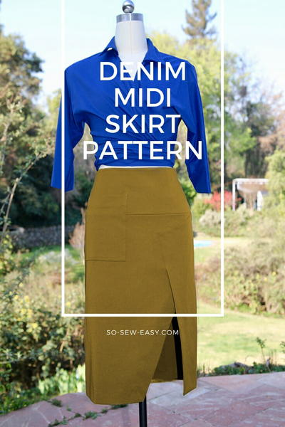 Denim Midi Skirt Pattern