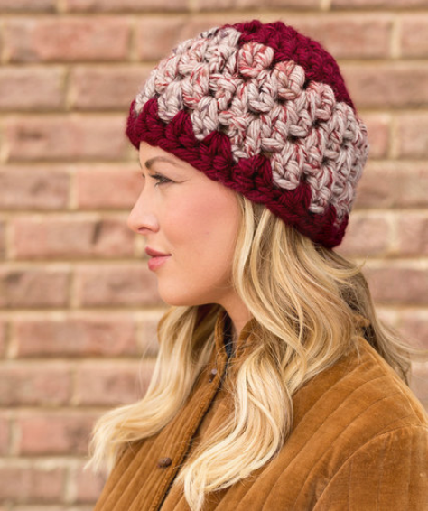 Beginner Granny Stitch Hat Pattern