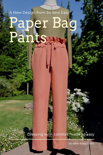 Paper Bag Pants Pattern  Dressing with Comfort Made so Easy