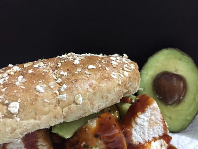 Hearty and Healthy Avocado and Chicken Oatmeal Sandwich