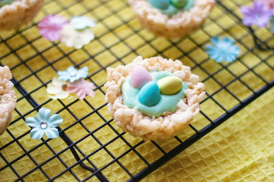Rice Krispie Nests – Easy No Bake Easter Treats