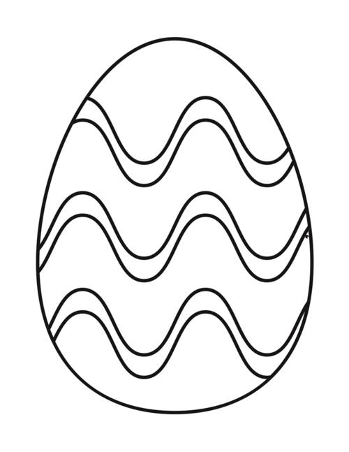 Easter Egg Coloring Page Free Printable | AllFreePaperCrafts.com
