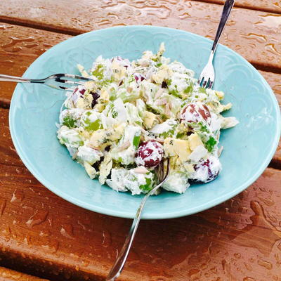 Delish Grape  Cheese Salad