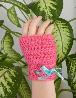 Easy Peasy Crochet Fingerless Gloves
