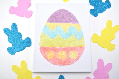 Salt Glitter Easter Egg Canvas Art