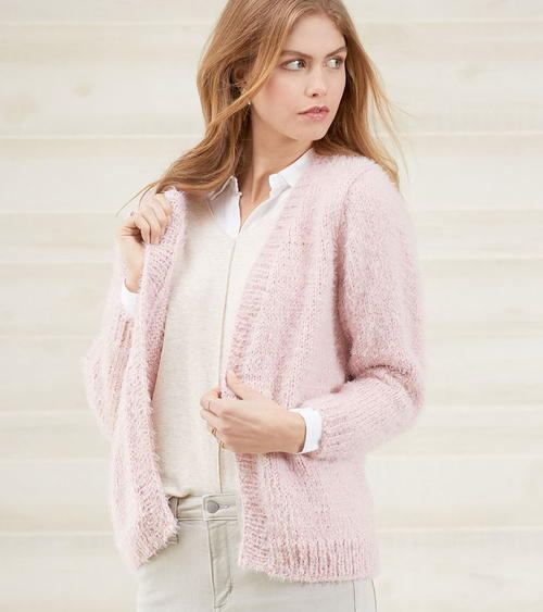 No-Button Knitted Cardigan