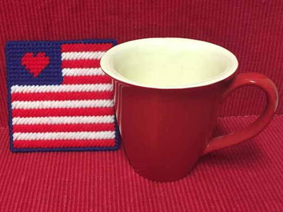Patriotic Flag Coaster
