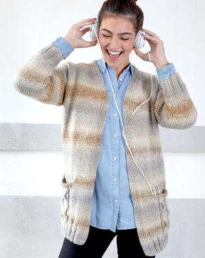 Wandering Cables Cardigan