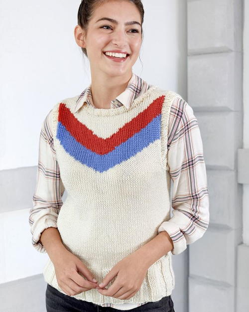 Knit Vest Pattern in the Round