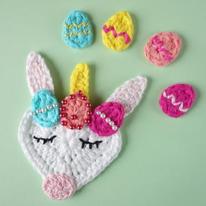 Crochet Easter Unicorn Applique