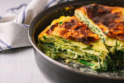 Savory Crepes with Spinach and Cheese