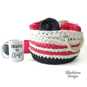 Nautical Crochet Basket Pattern