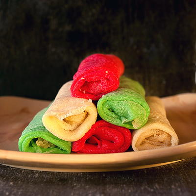 Colorful Coconut Crepes