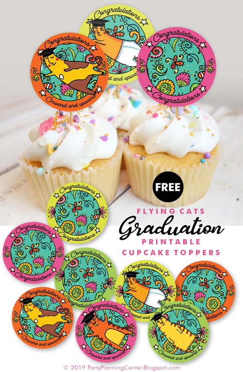 Printable Graduation Cupcake Toppers