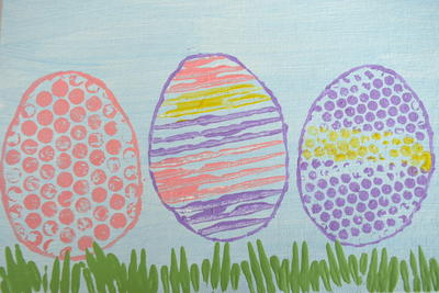 Easy Easter Egg Painting on Canvas