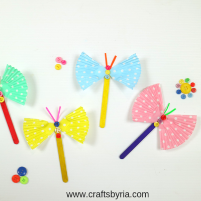 Fluttering Butterfly Craft from Cup Cake Liner