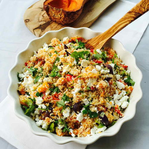 Roasted Veggies and Feta Whole Meal Couscous