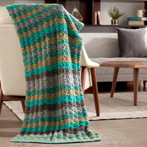 Seaside Caron Cakes Afghan Pattern
