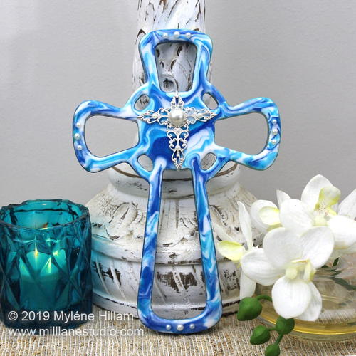 Marbled Resin Cross