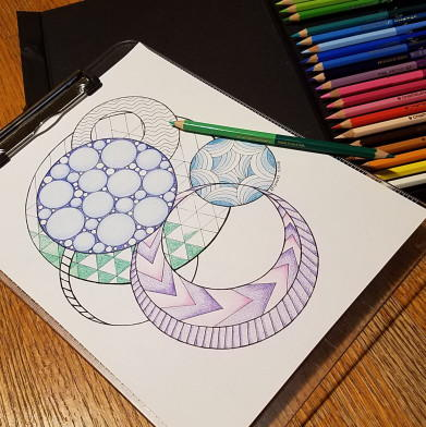 Geometric Circle Coloring Page