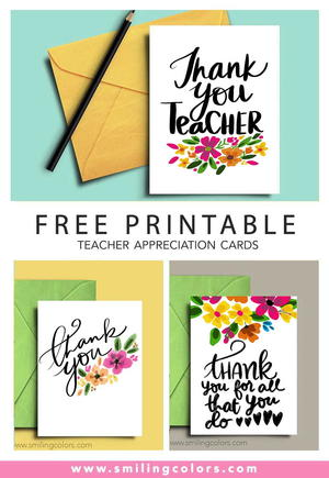 photograph regarding Printable Note Card identified as Thank Yourself Instructor: A Established of No cost Printable Notice Playing cards