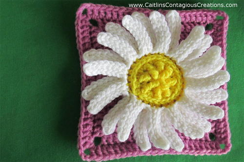 Daisy Square Crochet Pattern