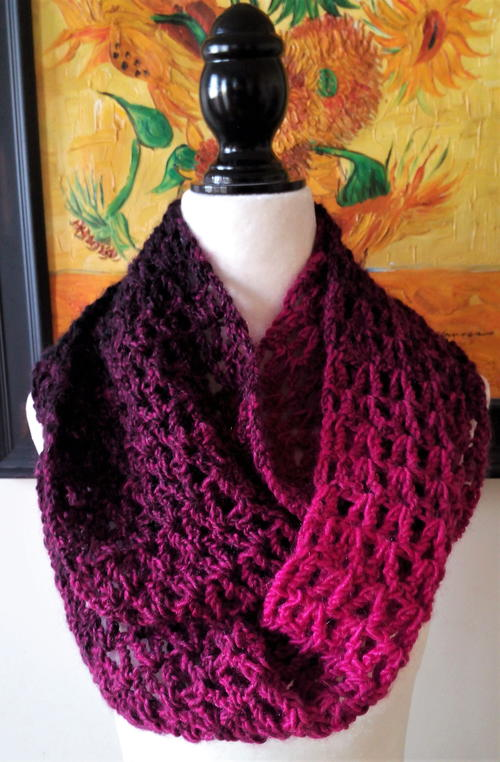 Hot Pink Passion Infinity Scarf