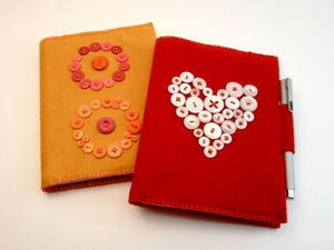 Button Embellished Notebook Cover
