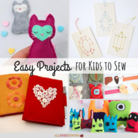 26+ Easy Projects for Kids to Sew