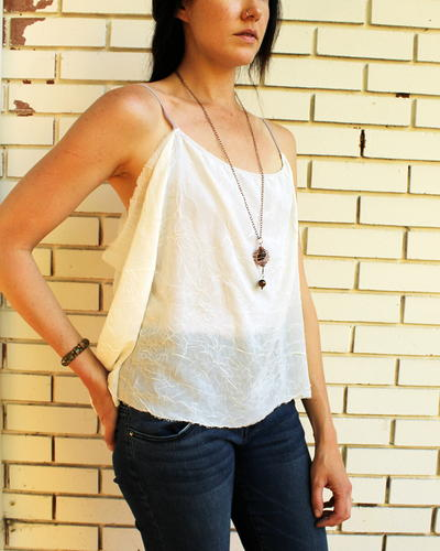 DIY Chiffon Tank Top Upcycle