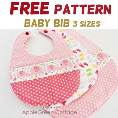 Free Baby Bib Pattern - In 3 Sizes!