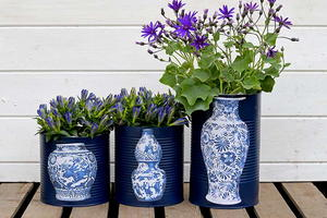 Fabulous Upcycled Faux Chinese Vases